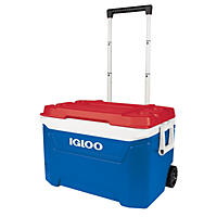 Igloo 60-Quart Core Rolling Cooler - Blue/Red