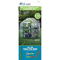 Bond Bloom Walk-in Greenhouse with Tools