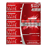 Colgate Optic White Sparkling White Toothpaste, Sparkling Mint (4.6 oz., 5 pk.)