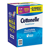 (Free Shipping)Kleenex Cottonelle FreshCare Flushable Cleansing Cloths (11 pk., 42 ct.)
