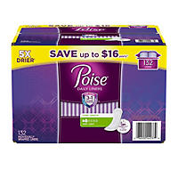 (Free Shipping) Poise Very Light Absorbency Liner, Long 132 Ct.
