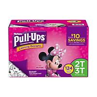 D - Huggies Pull-ups Traning Pants for Girls, M 2T - 3T (124 ct.)