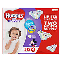 Huggies Little Movers Diapers, Size 4 (312 ct.)