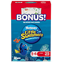 Huggies Little Swimmers Swimpants, Large (34+ lbs.) - 25 ct.