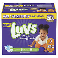 Luvs Ultra Leakguards Diapers, Size 3 - 312 Count