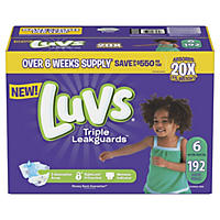 Luvs Ultra Leakguards Diapers, 192 Count - Size 6