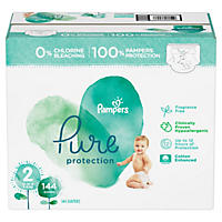 Pampers Pure Protection Diapers, Size 2 (12 - 18 lbs., 144 ct.)