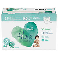 Pampers Pure Protection Diapers, Size 3 (16 - 28 lbs., 124 ct.)