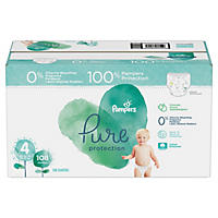 Pampers Pure Protection Diapers, Size 4 (22 - 37 lbs., 108 ct.)