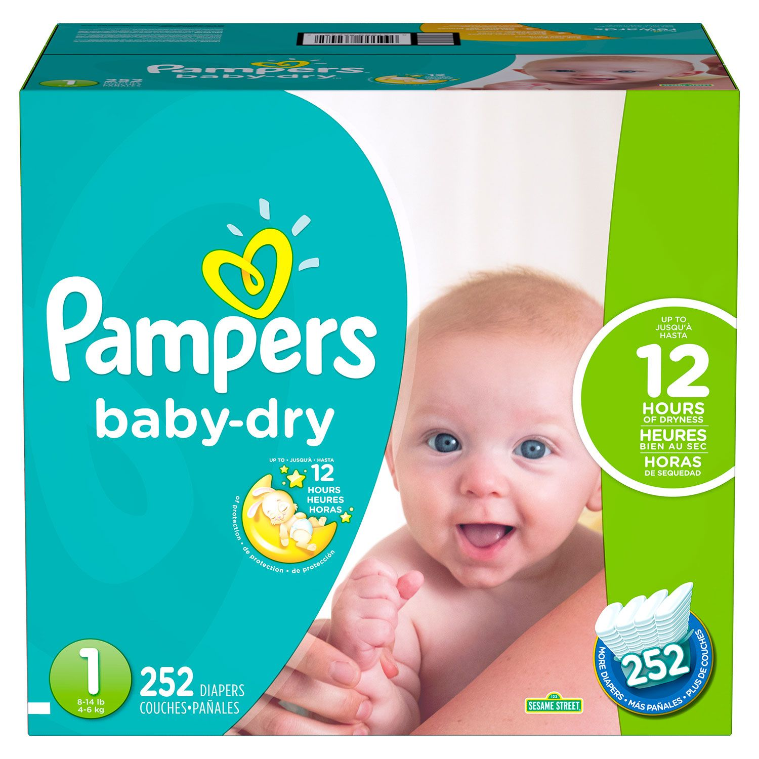 Pampers Baby Dry Diapers Pick 2 Bundle Choose Your Sizes Sams Club Premium Care New Born 52 Tape Zoom Pan