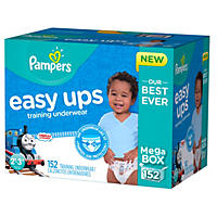 Pampers Easy Ups Training Pants for Boys - 2T - 3T 152 count