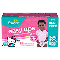 Pampers Easy Ups Training Pants for Girls, Size 6 (112 ct.)