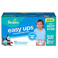Pampers Easy Ups Training Pants for Boys, Size 6 (112 ct.)