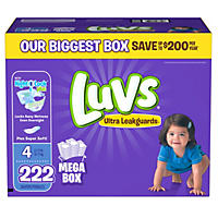 Luvs Ultra Leakguards Diapers, Size 4 (222 ct.)