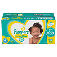 Pampers Swaddlers Diapers 92 Count, Size 6
