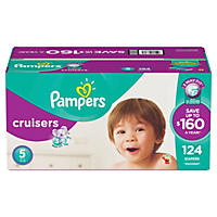 D - Pampers Cruisers Diapers, Size 5 (124 ct.)