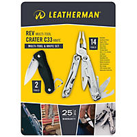 Leatherman Rev and Crater C33 Multi-Tool Knife Set