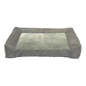 "D - DMC Chopped Memory Foam Couch Pet Bed, 28"" x 40"", Gray"