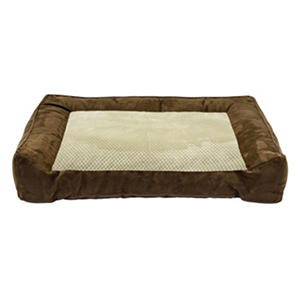 "D - DMC Chopped Memory Foam Couch Pet Bed, 28"" x 40"", Brown"