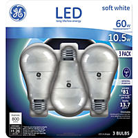 GE 10.5-Watt LED General Use Light Bulb - Soft White (3-pack)