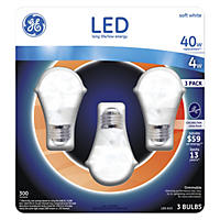 GE 4 Watt A15 LED Ceiling Fan Bulb - Soft White (3-pack)