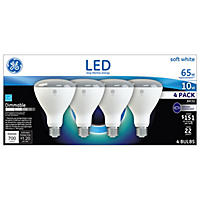 GE LED 65w BR30 Soft White Flood Light (4pk)
