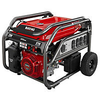 Black Max 7,000 Watt Electric Start Gas Generator (Powered by Honda)