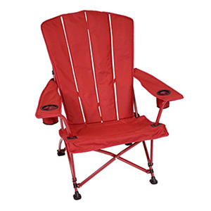 Foldable Adirondack Chair   Red