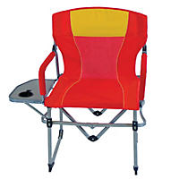 Portable Director's Chair, Red and Yellow