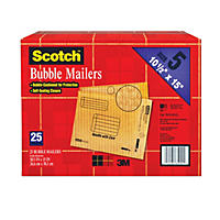 "Scotch® Bubble Mailers - size 5 (10.5"" x 15"") - 25 pk."