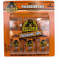 Gorilla Heavy Duty 25 yd Packaging Tape, 6 pack