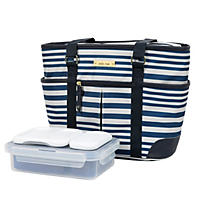 Arctic Zone Ladies Lunch Tote-Insulated Bucket-Gazebo Sripes