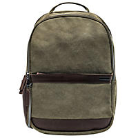 Renwick Canvas Backpack with Genuine Leather Trim, Green