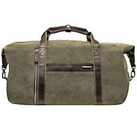 Renwick Canvas Duffle with Genuine Leather Trim, Army Green