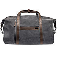 Renwick Canvas Duffle with Genuine Leather Trim, Grey