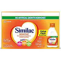 (Free Shipping) Similac Sensitive Ready-to-Feed Infant Formula, 32 oz. - 8 pk. bottles