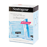 (Free Shipping)Neutrogena Makeup Remover Cleansing Towelettes - 100 ct.
