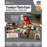 "Royal Brites Glossy Photo Paper 8.5"" x11"", 150 ct."