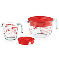 Pyrex 4 Piece Lidded Measuring Cup Set
