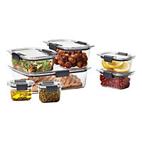 Rubbermaid Brilliance 14-Piece Food Storage Container Set