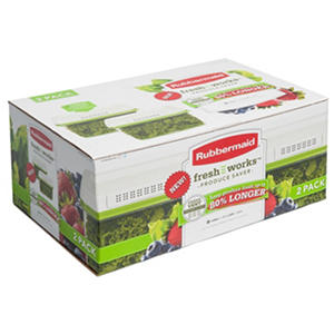Rubbermaid Freshworks 2 Piece 17.3 Cup Large Produce Saver