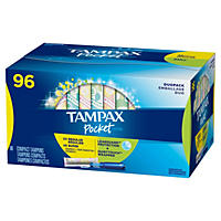 Tampax Duopack Pocket Pearl Tampons, Unscented (96 ct.)