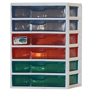 Sterilite Craft Cart, 6 Drawer