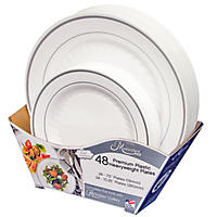 Masterpiece Plate Large and Small Combo Pack - 48 ct.