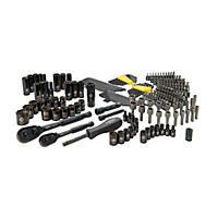 STANLEY 226 Piece Mechanics Tool Set (Black-Chrome)