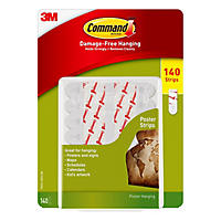3M Command Poster Hanging Strips Club Pack, 140 Count