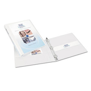 "Avery® Durable View Binder, Slant Rings, Letter, 1/2"" Capacity, White, 6pk."