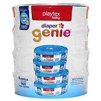 Playtex - Diaper Genie, 4 Pack Refill - 960 Count