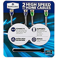 Member's Mark HDMI 9FT Cables (2 Pack)