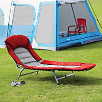 Folding Cot and Lounge, Red